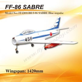 F86 Sabre1420 mm SPW. blue impulse  Impellerjet  inkl.90er Impeller